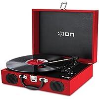 ION Audio スピーカー内蔵 スーツケース型レコードプレーヤー Vinyl Transport レッド