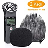 YOUSHARES Foam & Furry Indoor/Outdoor Windscreen Muff, Pop Filter/Wind Cover Shield for Zoom ZH1 H1 Handy Portable Digital Recorder