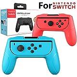 YOMETOME Nintendo Switch Joy-Con グリップ コントローラー スイッチ ジョイコン ハンドル アクセサリー 2点セット 改良版 脱着簡単 より強くクリック感のあるL/Rボタン