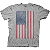 Ripple Junction Distressed Vertical American Flag Adult T-Shirt