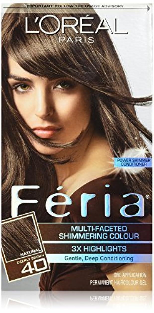 顔料設計辞書Feria Espresso,40 Deeply Brown/Espresso by L'Oreal Paris Hair Color [並行輸入品]