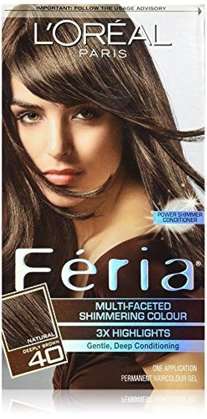 忠誠エクステント松Feria Espresso,40 Deeply Brown/Espresso by L'Oreal Paris Hair Color [並行輸入品]