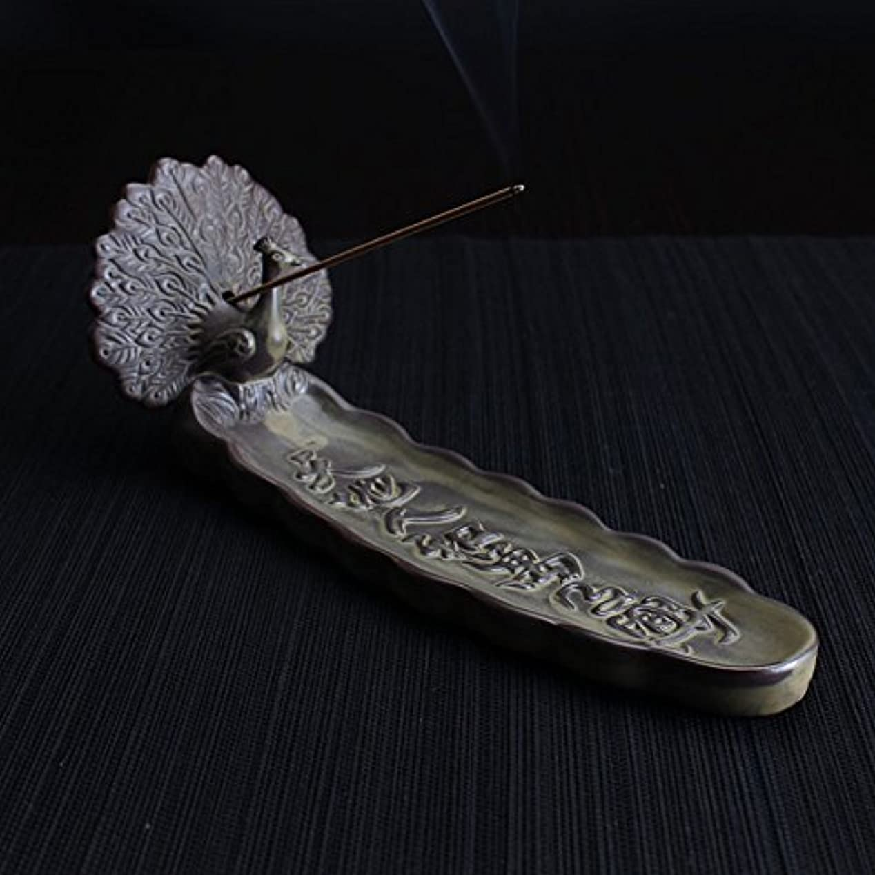 誇りに思うお嬢シリンダー香炉セラミック/ Peacock / Joss stick incense Seat / Heavy Incense Burner
