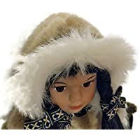 Alaskan Friends Traditional Alaskan Eskimo Doll with Fur Parka