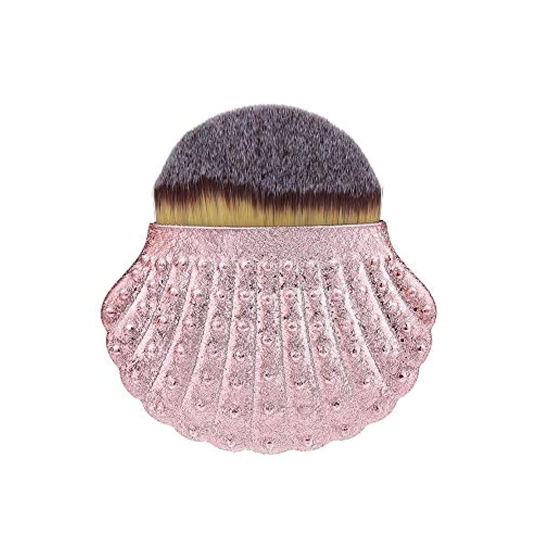 ジム芝生スローFeteso シェル ファンデーションブラシ 化粧ブラシ 大 ファッション 初心者に適しています 毎日の化粧を簡単にする カラフルな 可愛い 持ち運びが簡単 Rose Gold