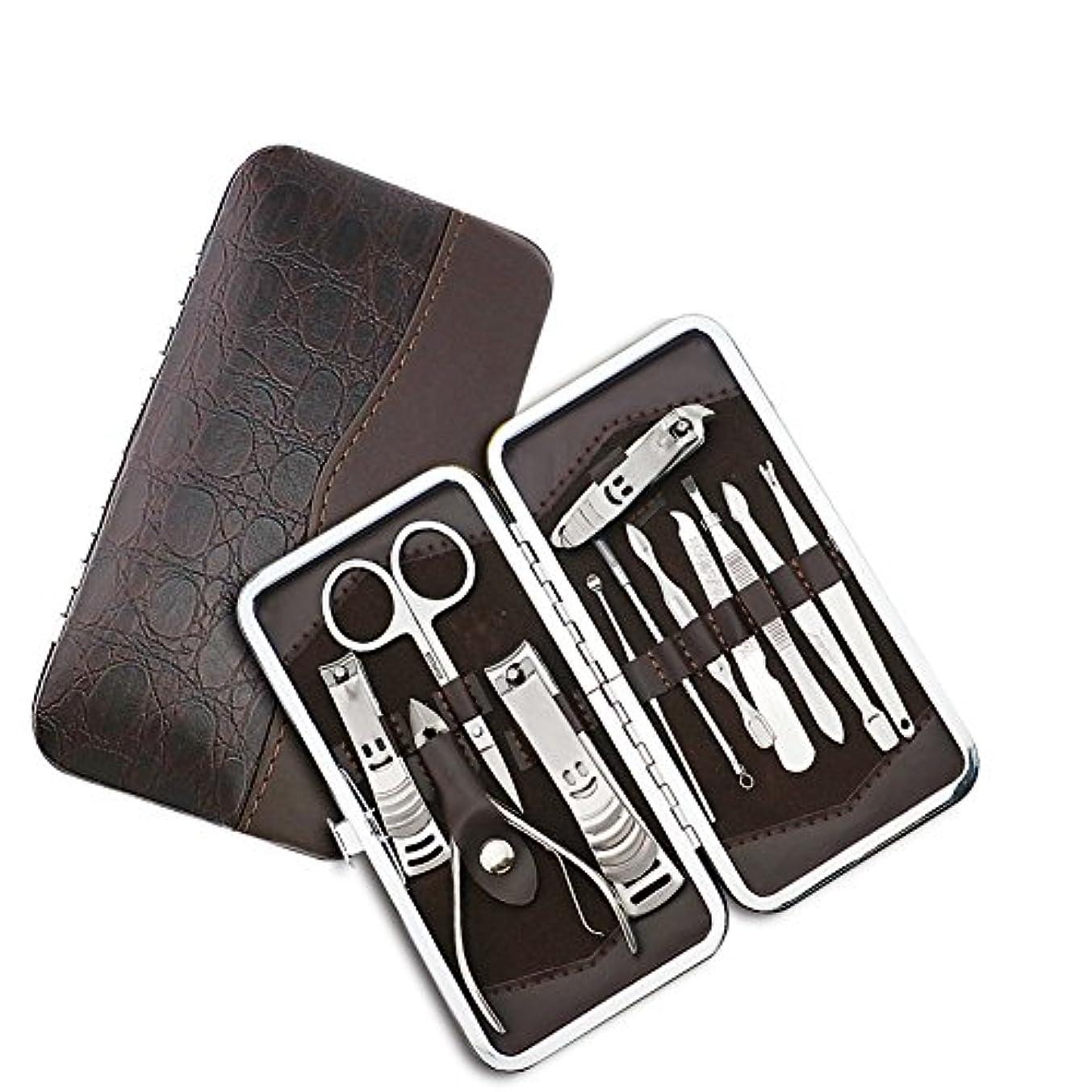複製するゴミ旅行ネイルはさみネイルクリッパートラベルセット、プロフェッショナルステンレスネイルケアセットベビーセーフネイルクリッパーパーソナルマニキュアセットペディキュアセットは、男性と女性のための指、手足で使用爪切り