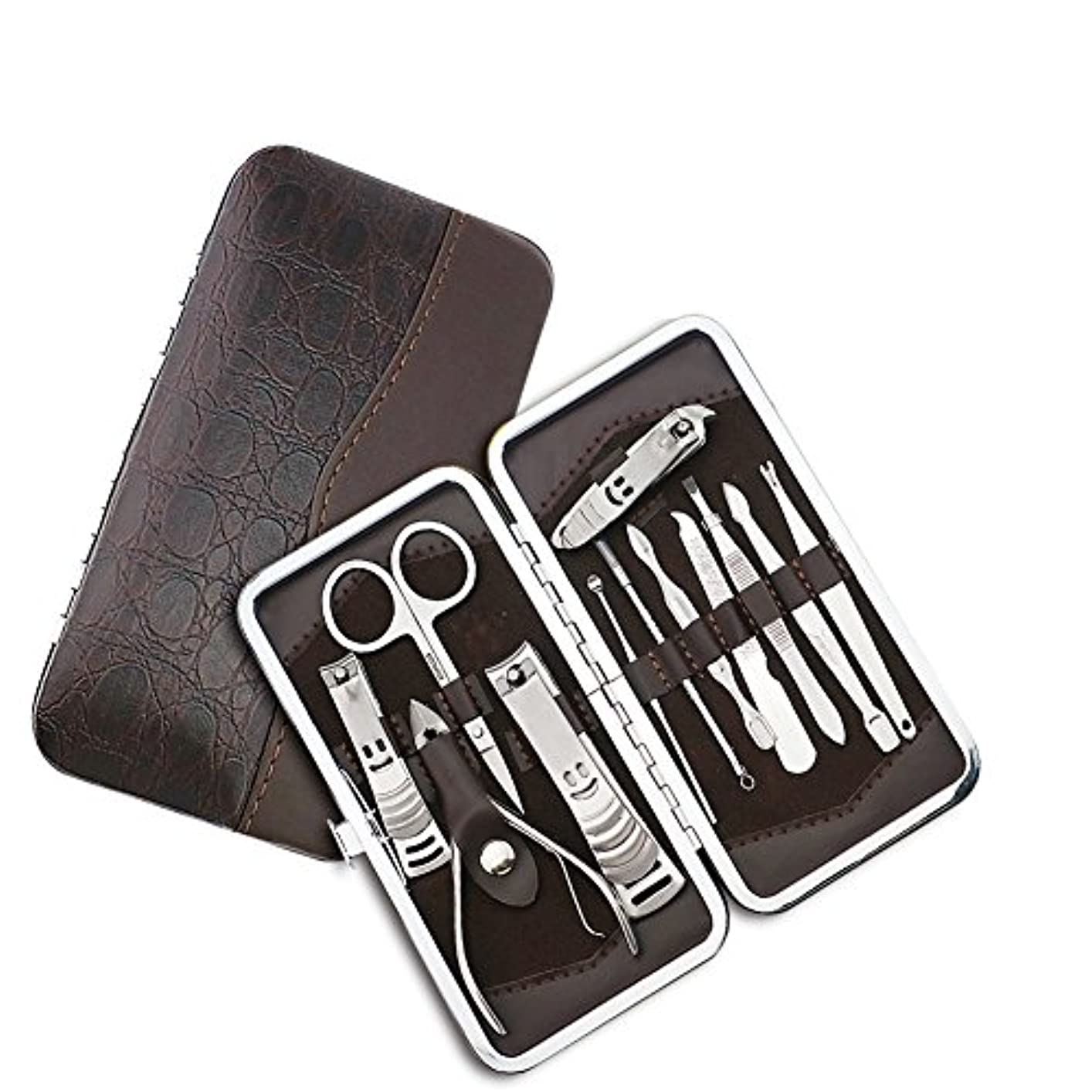 お気に入りモルヒネ学生ネイルはさみネイルクリッパートラベルセット、プロフェッショナルステンレスネイルケアセットベビーセーフネイルクリッパーパーソナルマニキュアセットペディキュアセットは、男性と女性のための指、手足で使用爪切り