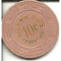 10セントSierra SidスパークNevada Rare Obsoleteカジノチップ