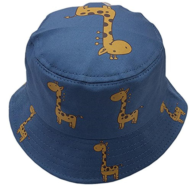 YueLian 全4色 バケットハット UVカット シンプル ハット キリン柄 日焼け止め レディース 行楽 帽子 ガールズ ハット アウトドアキャップ 折りたたみ つば広 通学 お出かけ