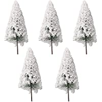 Mxfans 5個入れ モデルツリー 樹木 情景コレクション ジオラマ 建築模型 風景装飾用 クリスマス ツリー (11cm/4.33inch(H))