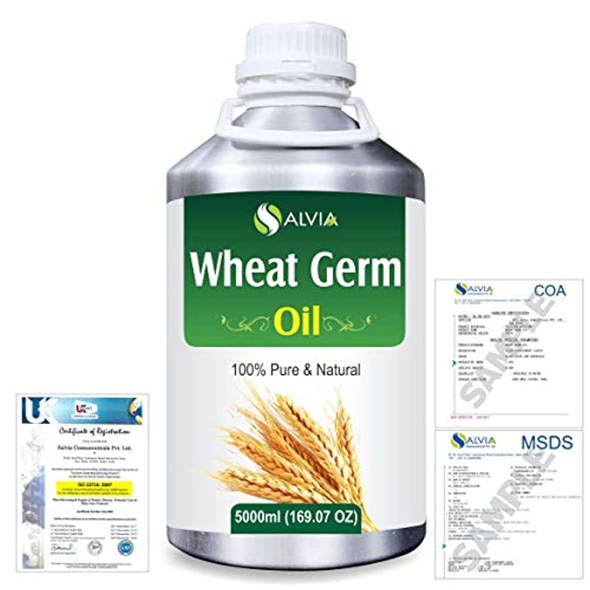 ビデオ怖がらせるフローティングWheat Germ (Triticum aestivum) 100% Natural Pure Essential Oil 5000ml/169fl.oz.