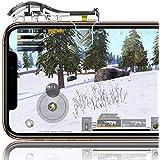 【二代目透明】 荒野行動 PUBG Mobile コントローラー 射撃ボタン ゲームパッド 感応式 優れたゲーム体験 視線が遮らない エイムアシスト 高速射撃ボタン 左右2個 iPhone & Xperia Android 等対応
