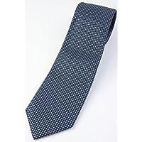 (フェアファクス) FAIRFAX マイクロ小紋のネクタイ ネイビー系 シルク100% イタリー生地使用 ジャカードタイ 日本製 jg19852