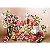 Diyの油絵子供のためのデジタル油絵大人初心者16x20インチ、花と果物--クリスマスの装飾ホームインテリアギフト (フレームなし)