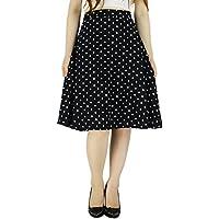 YSJ Women's Polka Dot Chiffon Mini Skirt Chic Summer A Line Swing Skirts