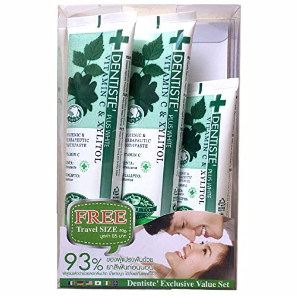 留め金マニア歯デンティス プラス ホワイト 3本セット(90g+90g+50g)[並行輸入品]