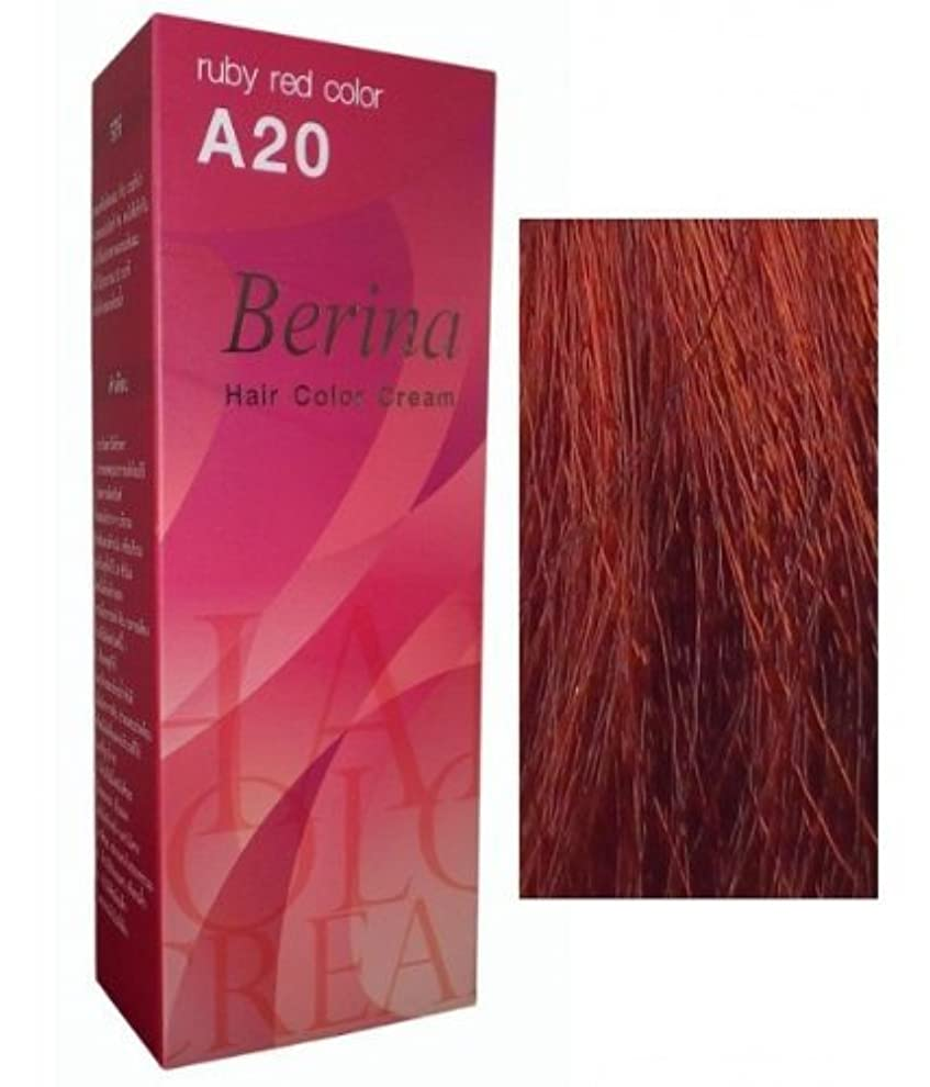 対以前は半導体Permanent Hair Colour Dye Berina Ruby Red by Berina
