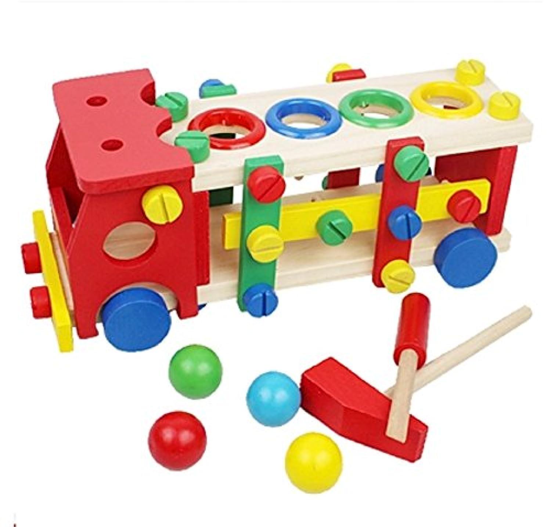 macaroni(マカロニ) 木 の おもちゃ くるま トラック 組み立て 遊びながら 手先 を 動かす 知育 玩具 モンテッソーリ
