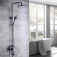 wAWzjバスルームシャワーセットダークシャワーシャワー銅要素