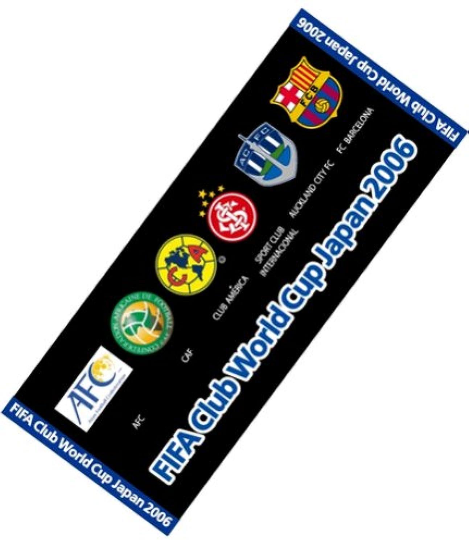 FIFAクラブワールドカップ ジャパン 2006 スポーツタオル(全クラブエンブレム入り)