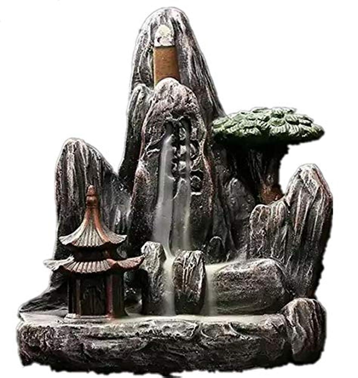 農業慢性的違うXPPXPP Backflow Incense Burner, Household Ceramic Returning Cone-shaped Candlestick Burner