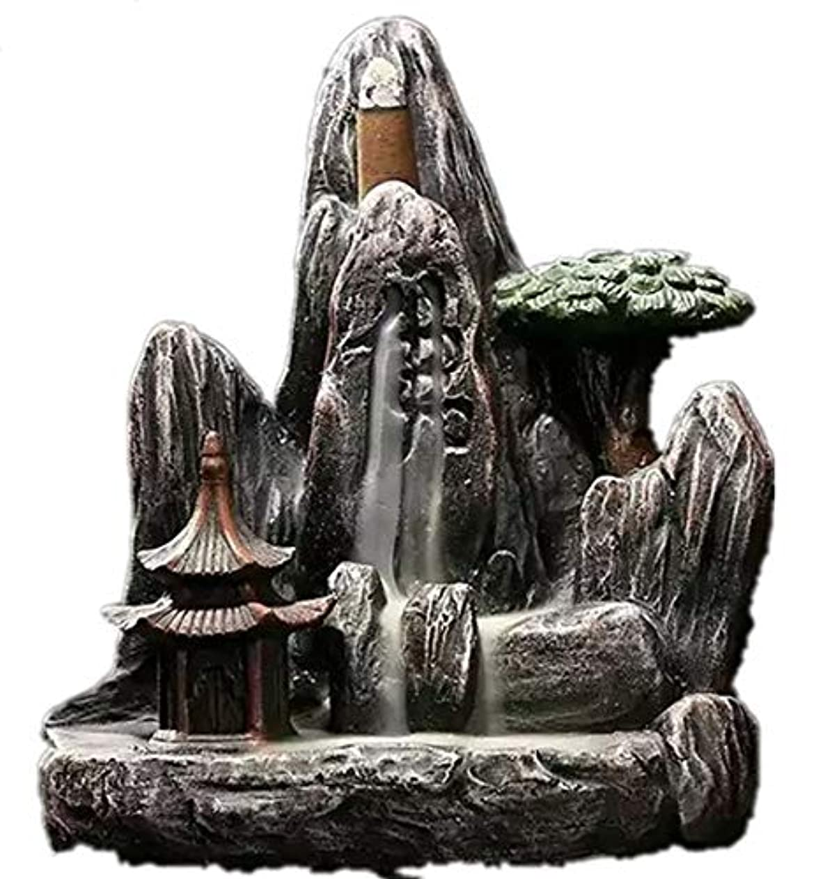 吸収剤関数チャームXPPXPP Backflow Incense Burner, Household Ceramic Returning Cone-shaped Candlestick Burner