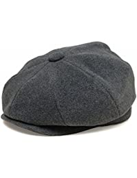 帽子 ウール キャスケット Broner ブローナー O'MALLEY, Charcoal(オマリー, チャコール)