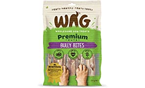 WAG Bully Bites 200g, Grain Free Hypoallergenic Natural Dog Treat Chew, Perfect for All Sizes & Breeds
