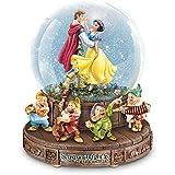 ディズニーSnowホワイトMusical Glitter Globe with the Seven Dwarfs on a rotating base by the Bradford Exchange