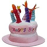 Happy Birthday Hat(ハッピーバースデーハット) (ファニーグッズ)(パーティグッズ) ピンクマルチ