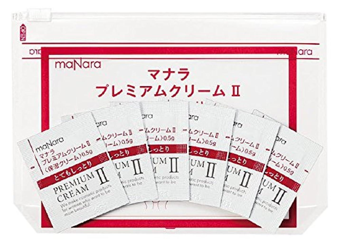 タイマーゼロ人生を作るマナラ プレミアムクリーム2(しっとりタイプ)使い切り6包