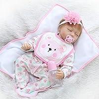 22インチ人形Handmade Lifelikeかわいい睡眠新生児ソフトSiliconeビニールRebornガールズベビー幼児用おもちゃ