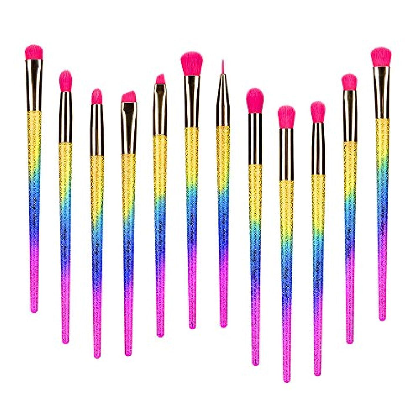 署名背の高い危険を冒しますメイクブラシ Party Queen 化粧筆 アイシャドウブラシ アイメイクブラシ 12本セット メイクアイシャドウブラシ メイク道具