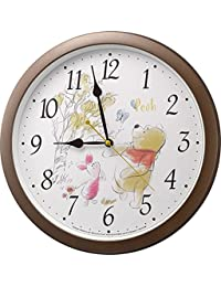 Disney (ディズニー) 掛け時計 キャラクター アナログ くまの プーさん Pooh M715 茶 リズム時計 4KG715MC06