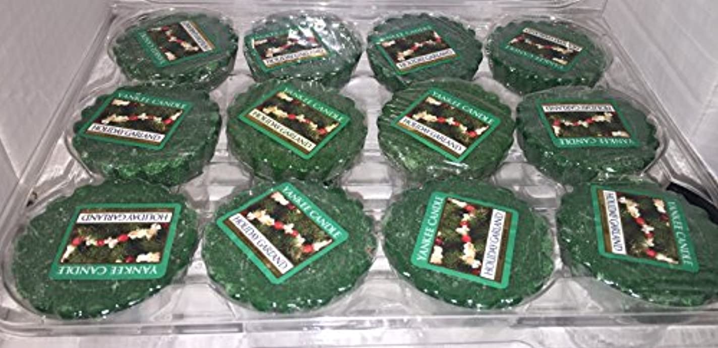 脅迫中メロドラマティックYankee Candle Lot of 12 HolidayガーランドTartsワックスMelts