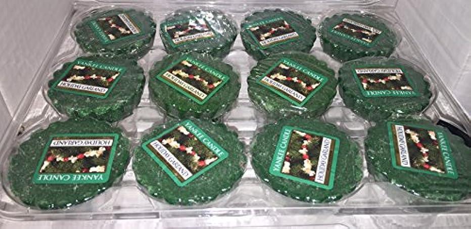 一部カプセル非行Yankee Candle Lot of 12 HolidayガーランドTartsワックスMelts