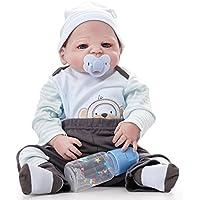 リボーンベビードール現実的なシリコン手作りベビードールソフトシミュレーション生きた磁気口の子供ギフトは洗うことができます