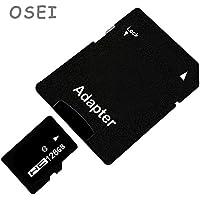 OSEI TFカード 4G 8G 16G 32G 64G 128G Class10 メモリカード アダプタ付 SDHC マイクロSDカード 高速 SDスピードクラス データ転送 TFカード MicroSDカード 一年保証付き (128G)