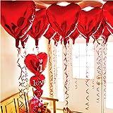 Jiaxingo 20ピースハート形アルミ箔風船ヘリウム風船誕生日パーティーの装飾お祝い用品インフレータブル-18インチ
