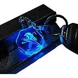 VILLSION プジョー7変色車のロゴキーバックル LED ランプ PEUGEOT キーチェーン車のインテリアペンダントアクセサリー