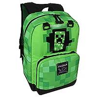JINX Minecraft Creepy Creeper Single Backpack 310, Gray