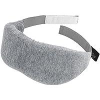 PLEMO アイマスク 立体型 超ソフト 優れる通気性 フィット感 快眠グッズ 男女兼用 睡眠補助 睡眠 旅行に最適 (薄いグレー)