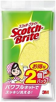3M スポンジ たわし キッチン キズつけない 抗菌 パワフルネット 2個 スコッチブライト NT-01K 2PM