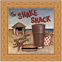 Shake Shack by David Carter Brown–10x 10インチ–アートプリントポスター LE_480531-F5031-10x10