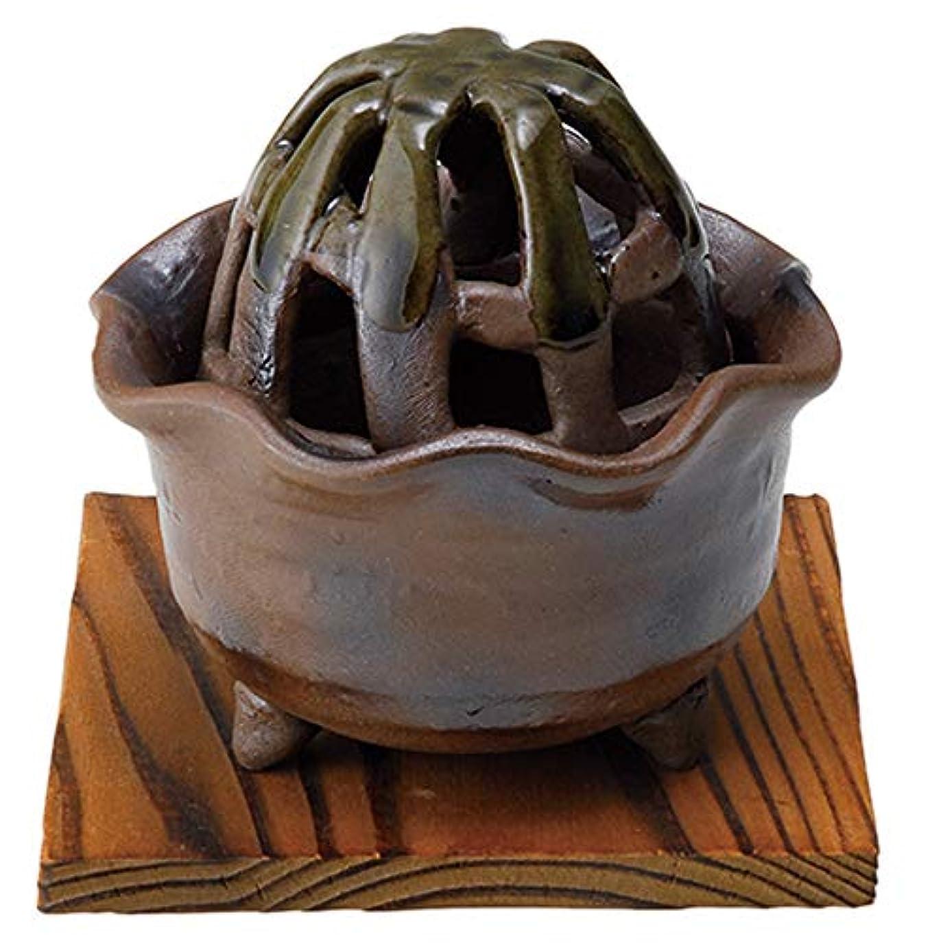 香炉 窯変花型 手づくり香炉 [R8.8xH8.5cm] HANDMADE プレゼント ギフト 和食器 かわいい インテリア