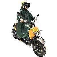 Nedved レインポンチョ 長袖付き 足元ロング丈 バイク 原付 スクーター 自転車 メンズ レディース フリーサイズ グリーン
