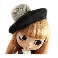 (ドーリア)Dollia ブライス 1/6ドール用 アウトフィット ブラック ベレー帽 ネオブライス ドール 人形 (ブラック ベレー帽)