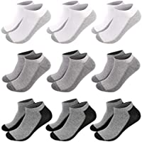 FITEXTREME Mens 4 to 9 Pack Sneakers Low Cut Cotton Fashion Socks