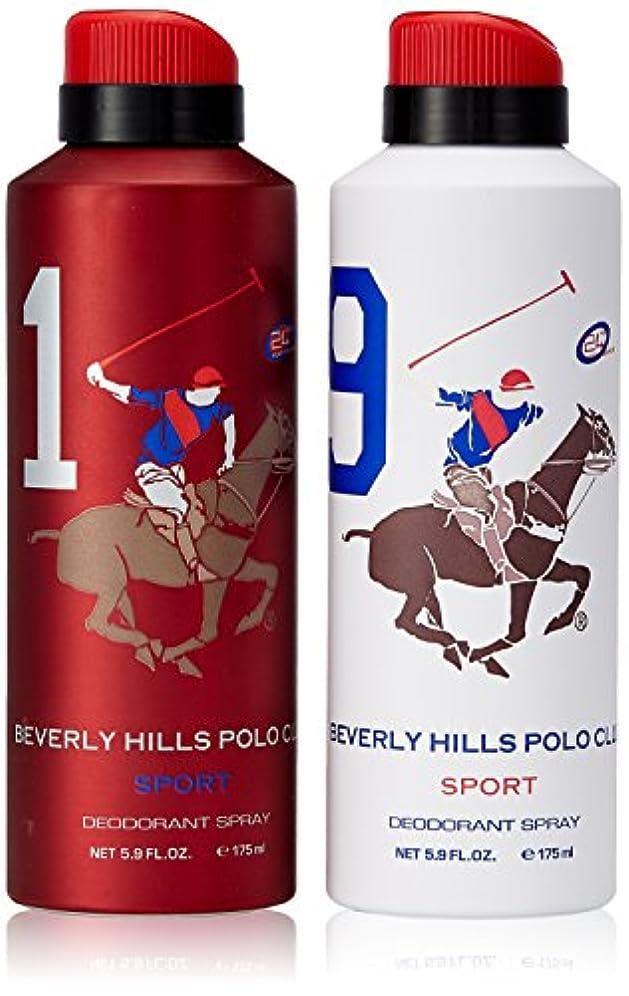 一時的通貨薬を飲むBeverly Hills Polo Club Deodorant For Men, 175ml (Pack Of 2)