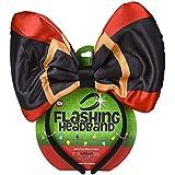 ホリデー クリスマス 10 インチ ライトアップ リボン パーティー アクセサリー ヘッドバンド - サンタクロースベルト